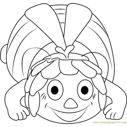 Maya Ready to Sleeping Free Coloring Page for Kids