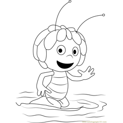Maya Say Hi Free Coloring Page for Kids