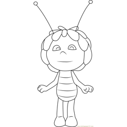Maya Standing Free Coloring Page for Kids