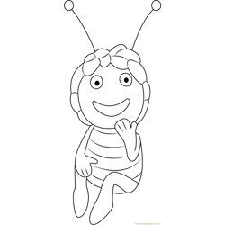 Pretty Maya Free Coloring Page for Kids