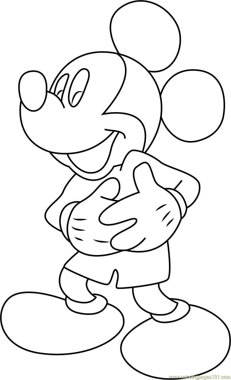 Cute Mickey Mouse Coloring Page Free Mickey Mouse