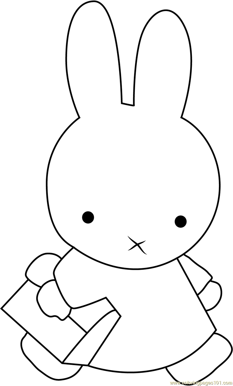 Cute Miffy Coloring Page Free Miffy Coloring Pages