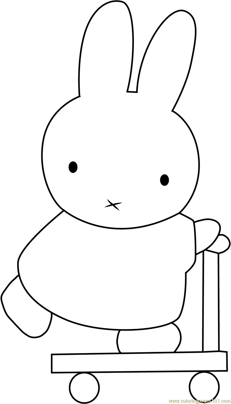 Miffy Going Coloring Page