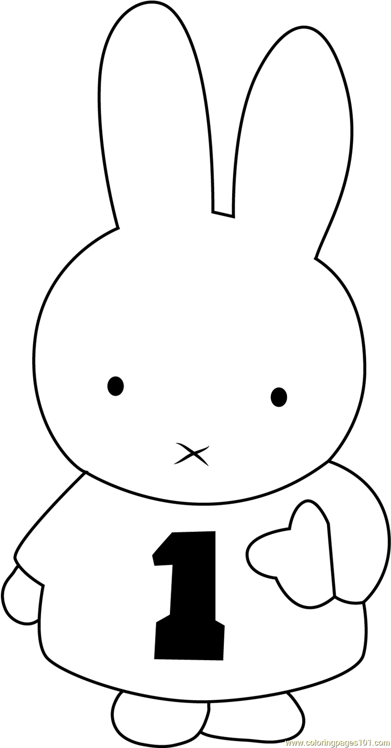 Miffy Number One Coloring Page