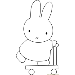 Miffy Going Free Coloring Page for Kids