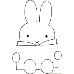 Miffy Reading a Book