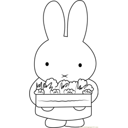 Miffy Says I Love You Free Coloring Page for Kids