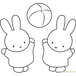 Miffy and Nina Play Ball