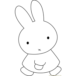 Miffy the Rabbit Free Coloring Page for Kids