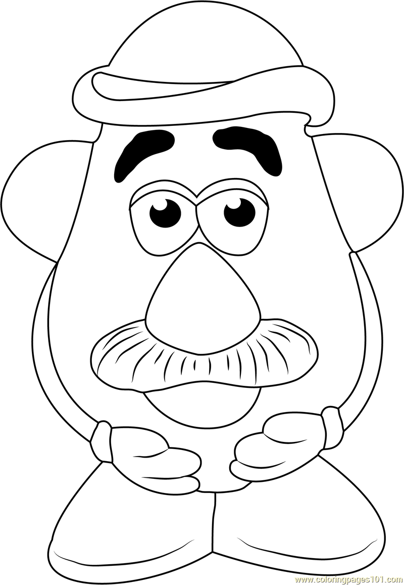 mister potato coloring pages