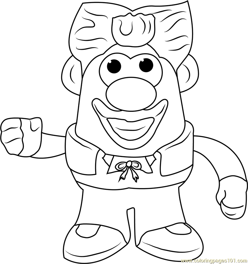 King Mister Potato Coloring Page