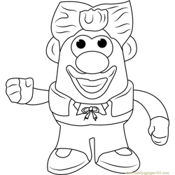 King Mister Potato Free Coloring Page for Kids