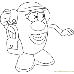 Mister Potato Free Coloring Page for Kids