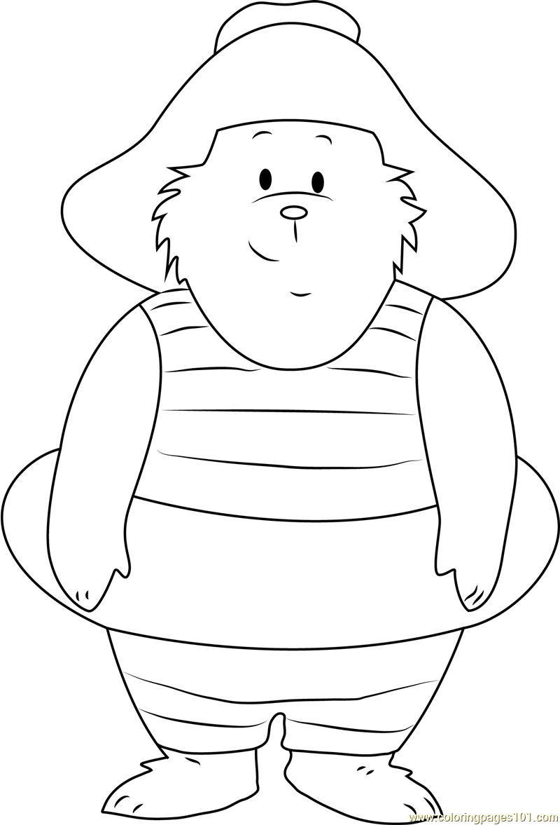 Looking at You Coloring Page