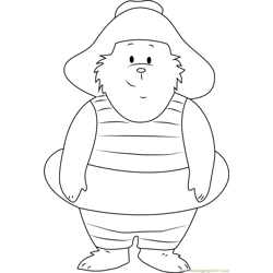 Looking at You Free Coloring Page for Kids