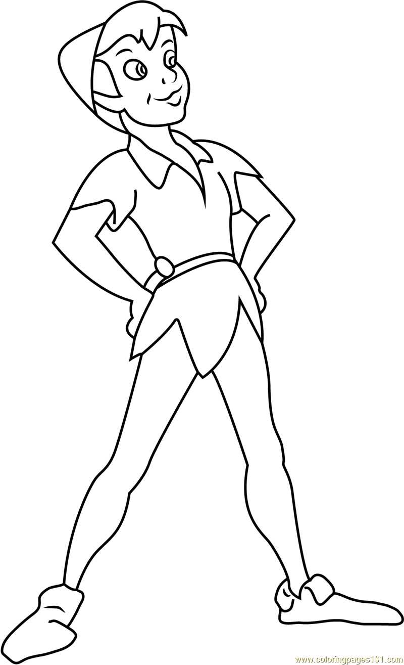 Peter Pan by Disney Coloring Page