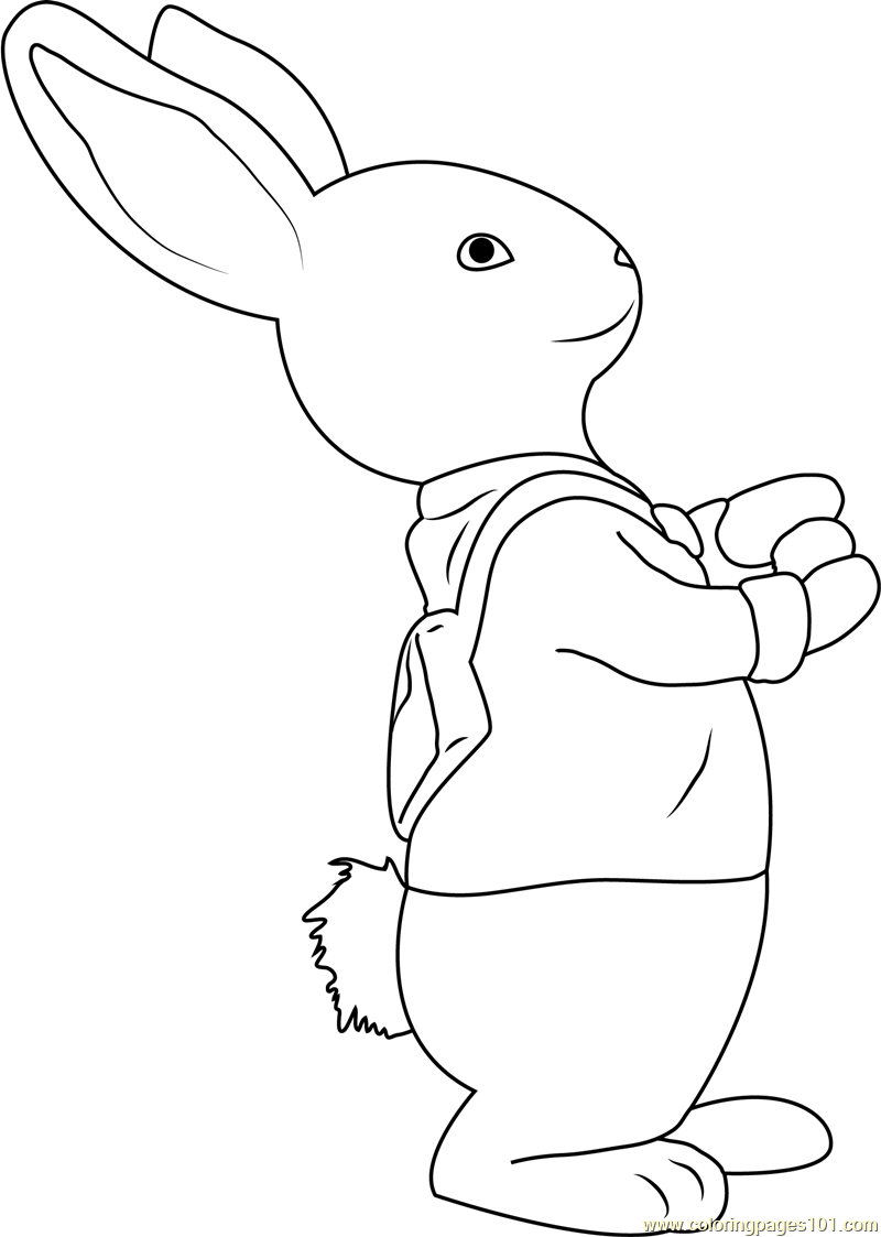 Rabbit coloring pages online - Peter Rabbit Coloring Page