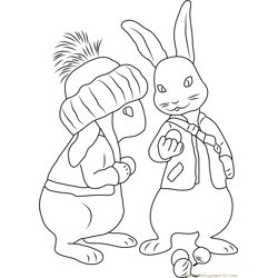 Benjamin Bunny Free Coloring Page for Kids