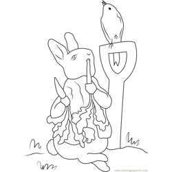 Peter Rabbit in Farm coloring page