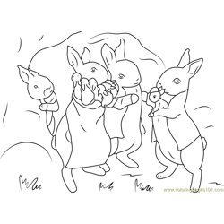 Benjamin Bunny Coloring Page For Kids Free Peter Rabbit Printable Coloring Pages Online For Kids Coloringpages101 Com Coloring Pages For Kids