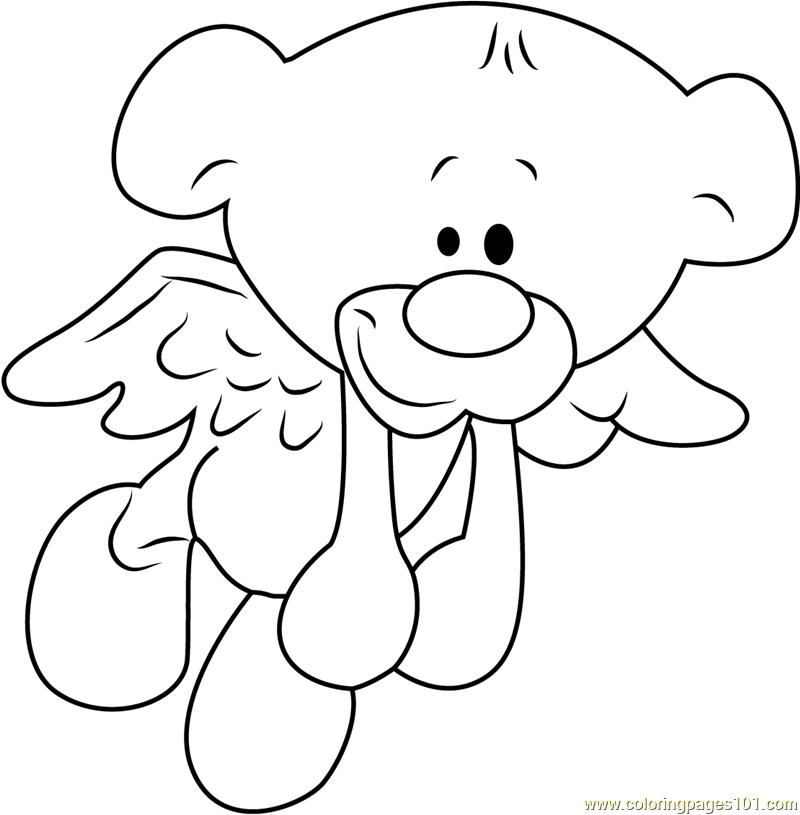 Pimboli Bear Fly Coloring Page - Free Pimboli Coloring ...