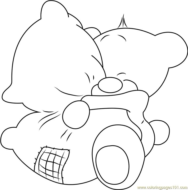 Pimboli Bear Hugs Pillow Coloring Page - Free Pimboli ...