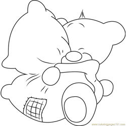 Pimboli Bear Hugs Pillow coloring page