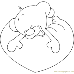 Pimboli Bear Sweet Dreams Free Coloring Page for Kids