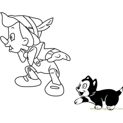 Disney Classic Pinocchio coloring page