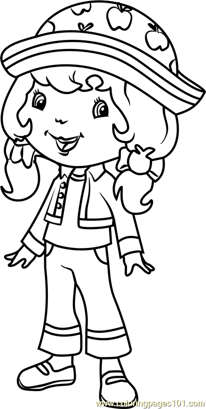 Apple Dumplin Coloring Page Free Strawberry Shortcake
