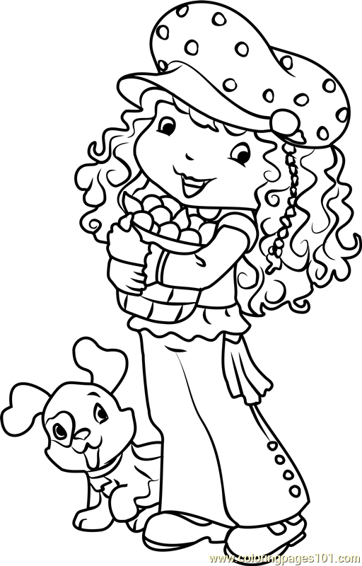 Blueberry Muffin Coloring Page Free Strawberry Shortcake