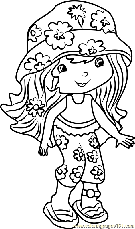 Coco calypso coloring page free strawberry shortcake for Strawberry shortcake characters coloring pages