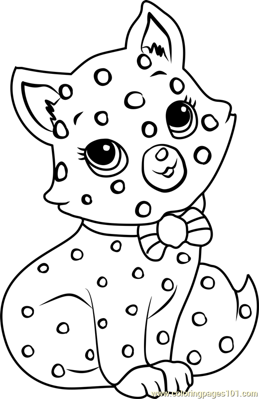 Custard the Cat Coloring Page