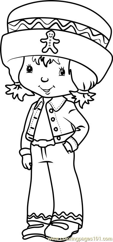 Cute Ginger Snap Coloring Page