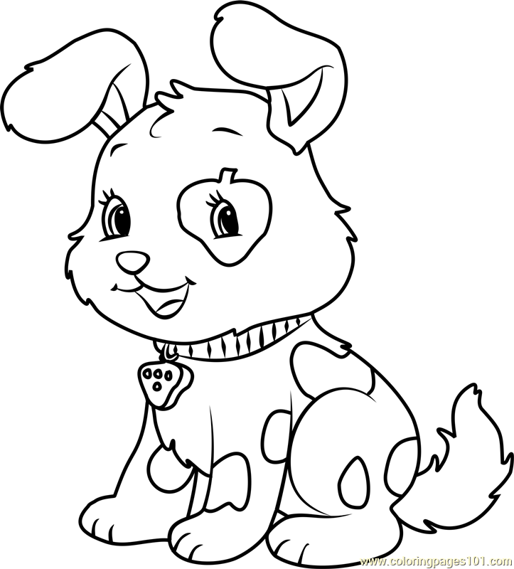 Cute Pupcake Coloring Page Free Strawberry Shortcake Coloring