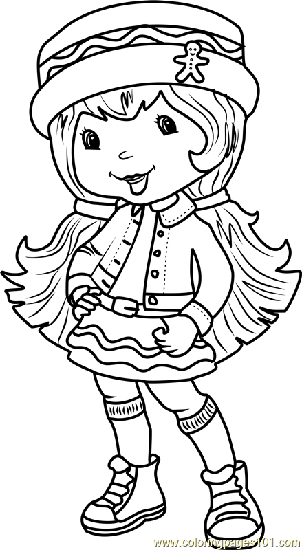 Ginger Snap Coloring Page Free Strawberry Shortcake