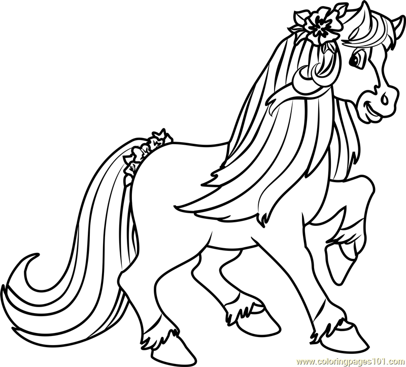 Honey Pie Pony Coloring Page Free Strawberry Shortcake