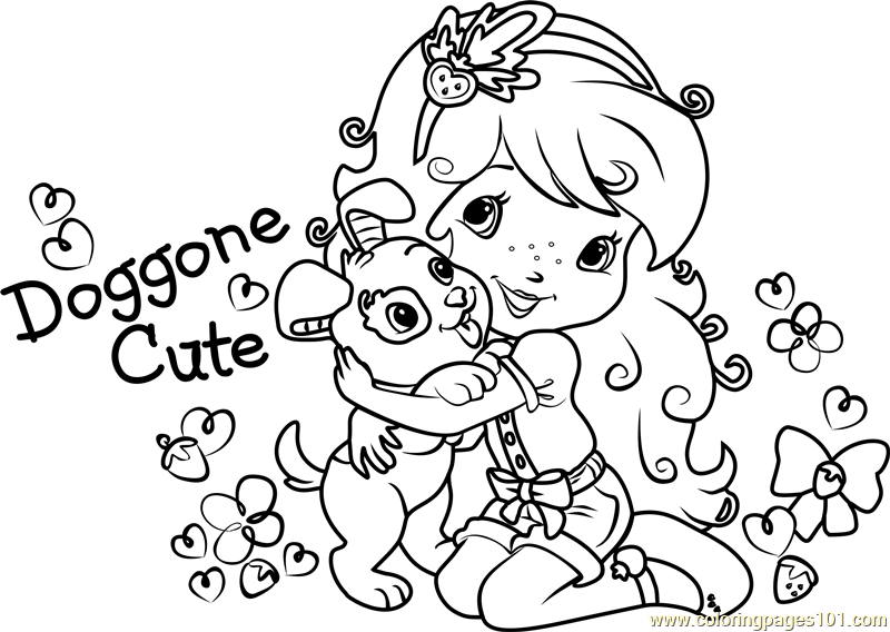 unique strawberry coloring page with face frieze examples