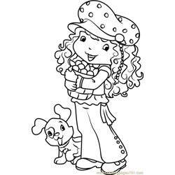 Blueberry Muffin Free Coloring Page for Kids