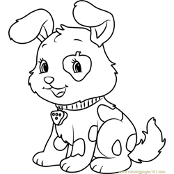 Cute Pupcake coloring page