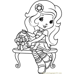 Orange Blossom Easter Eggs Free Coloring Page for Kids