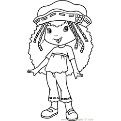 Orange Blossom Free Coloring Page for Kids