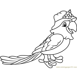 Papaya Parrot Free Coloring Page for Kids