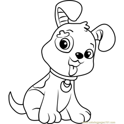 Pupcake Free Coloring Page for Kids