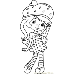 Strawberry Shortcake Free Coloring Page for Kids