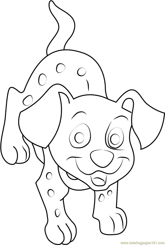 102 dalmatian coloring pages - dalmatian dog coloring page free 102 dalmatians coloring