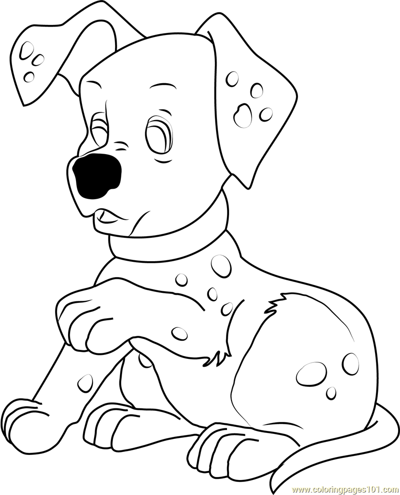 Dalmatian Puppy Coloring Page Free 102 Dalmatians Coloring Pages