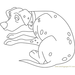 Dalmatian Sitting Free Coloring Page for Kids