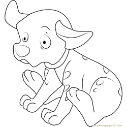 Dalmatian Sweet Free Coloring Page for Kids