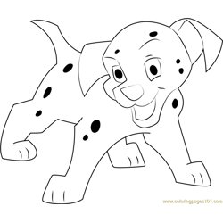 Dalmatian says Hello Free Coloring Page for Kids